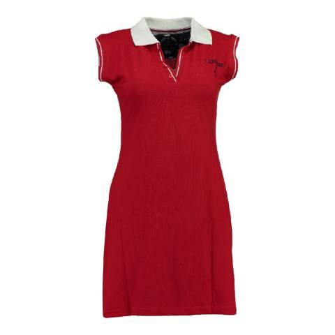 Geographical Norway Women's Red Kati Short Sleeve Dress