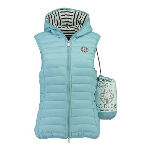 Geographical Norway Women's Sky Blue Vinette Hood Gilet
