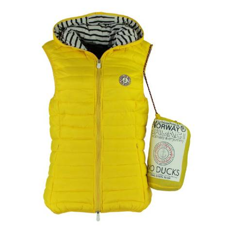 Geographical Norway Women's Yellow Vinette Hood Gilet