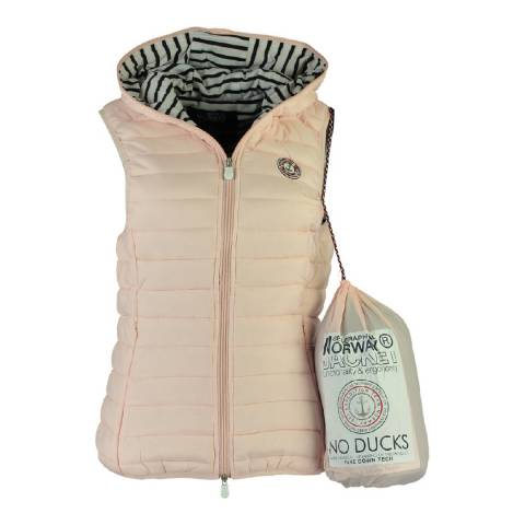 Geographical Norway Women's Pink Vinette Hood Gilet