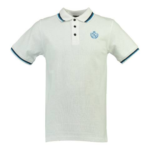 Geographical Norway Men's White/Blue Karaibe Polo Shirt