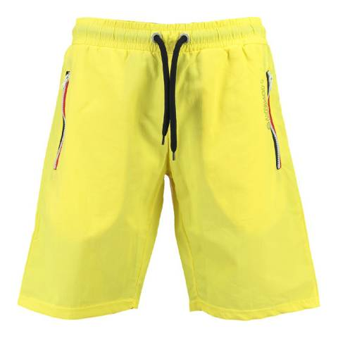 Geographical Norway Men's Yellow Quasweet Swim Shorts