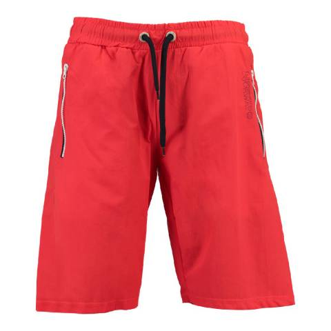 Geographical Norway Men's Red Quasweet Swim Shorts