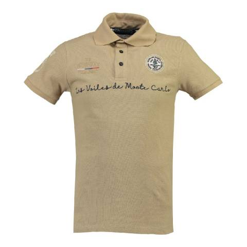 Geographical Norway Men's Beige Kolostar Polo Shirt