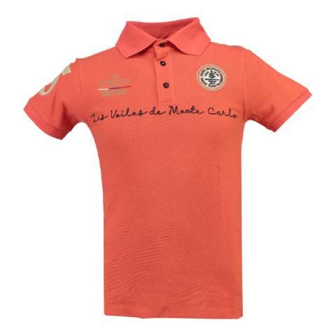 Geographical Norway Men's Orange Kolostar Polo Shirt