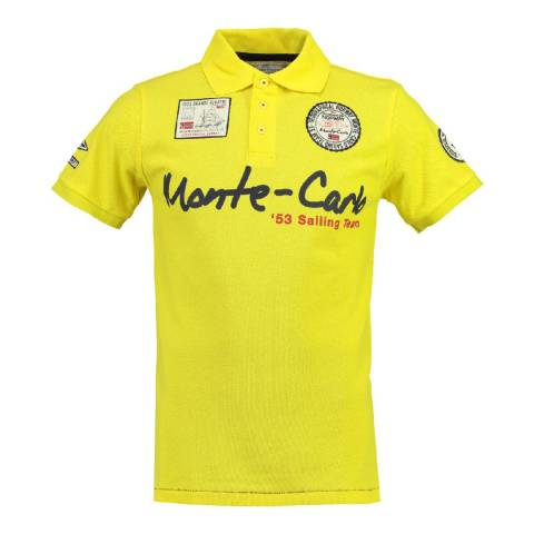Geographical Norway Men's Yellow Komen Polo Shirt