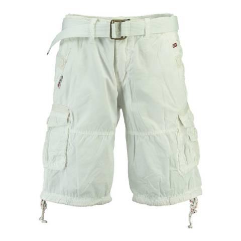 Geographical Norway Men's White Pablo Bermuda Shorts