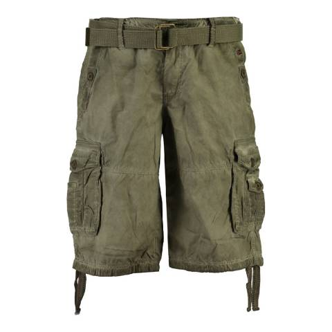 Geographical Norway Men's Green/Grey Pablo Bermuda Shorts