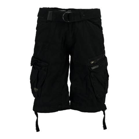 Geographical Norway Men's Black Palium Bermuda Shorts