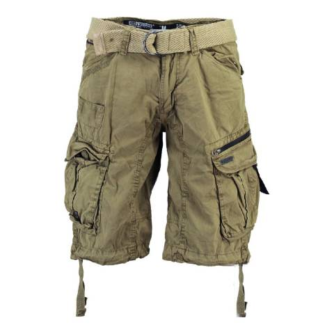 Geographical Norway Men's Dark Beige Palium Bermuda Shorts