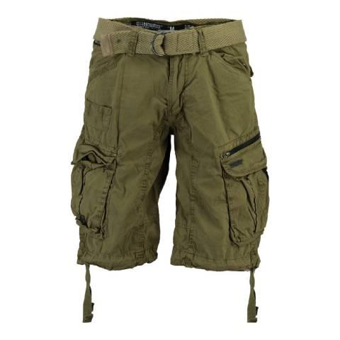 Geographical Norway Men's Khaki Palium Bermuda Shorts