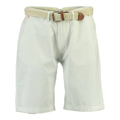 Geographical Norway Men's White Peluche Shorts