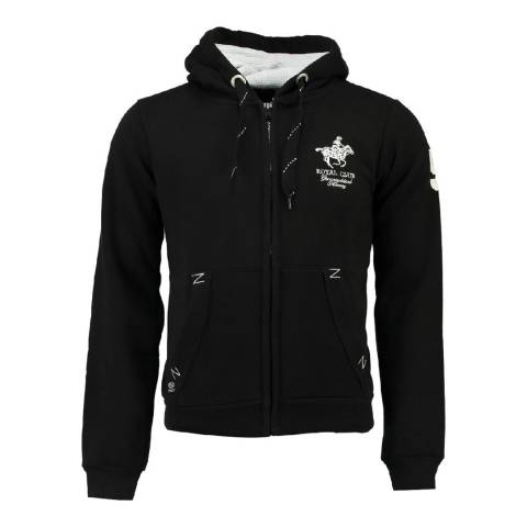 Geographical Norway Men's Black Gampai Hood Sweater