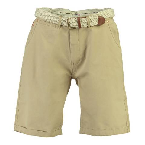 Geographical Norway Men's Beige Peluche Shorts