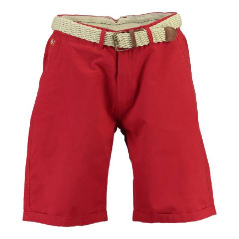 Geographical Norway Men's Red Peluche Shorts