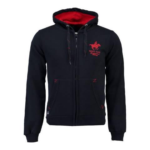 Geographical Norway Men's Navy Gampai Hood Sweater