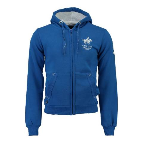 Geographical Norway Men's Blue Gampai Hood Sweater