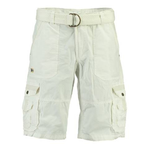 Geographical Norway Men's White Perou Shorts