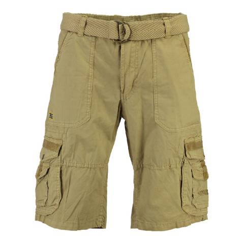 Geographical Norway Men's Beige Perou Shorts