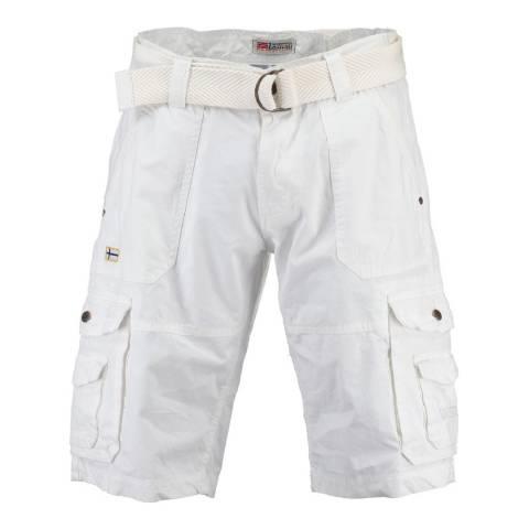 Geographical Norway Men's White Plavo Bermuda Shorts