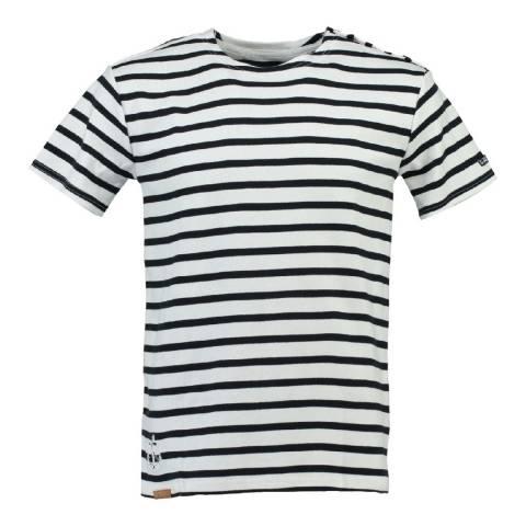 Geographical Norway Men's White/Navy Jucio T-Shirt