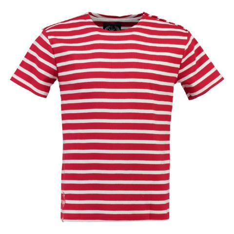 Geographical Norway Men's Red/White Jucio T-Shirt