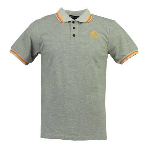 Geographical Norway Men's Grey/Orange Karaibe Polo Shirt