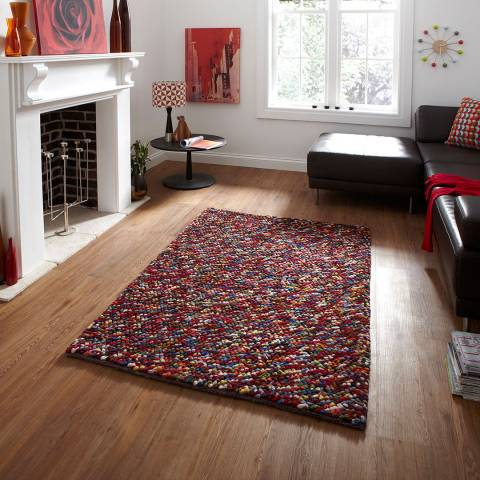 Think Rugs Multi Pebbles 120x170cm Rug