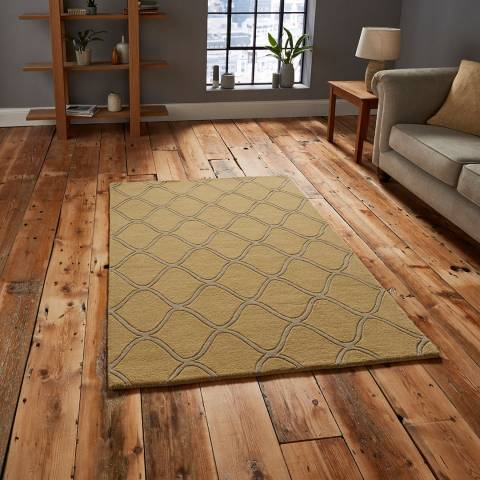 Think Rugs Yellow Elements EL65 150x230cm Rug