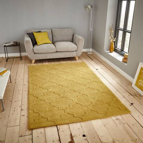 Think Rugs Yellow Hong Kong 8583 150x230cm Rug