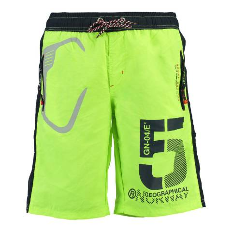 Geographical Norway Boy's Lime Green Qraviara Swim Shorts