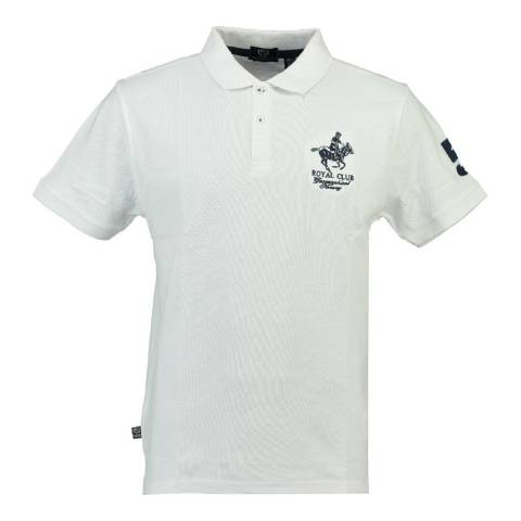Geographical Norway Boy's White Kampai Short Sleeve Polo