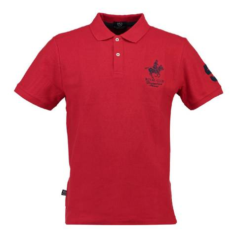 Geographical Norway Boy's Red Kampai Short Sleeve Polo