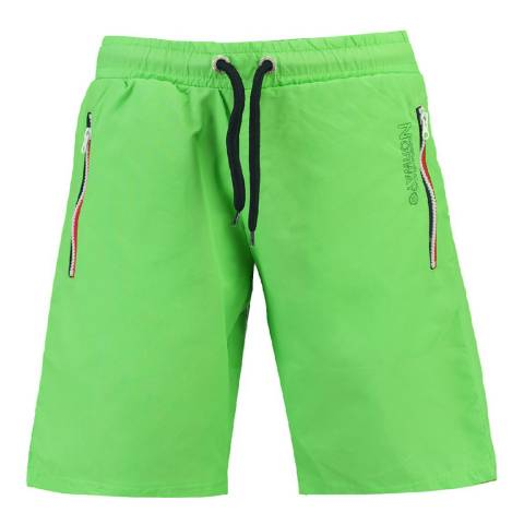 Geographical Norway Boy's Lime Green Quasweet Swim Shorts