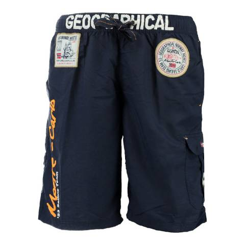 Geographical Norway Boy's Navy Quorban Swim Shorts