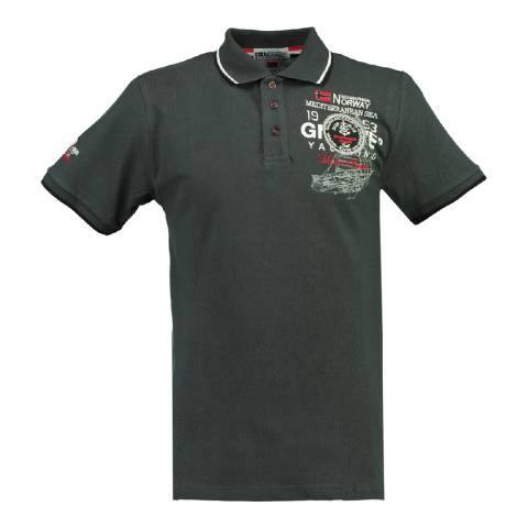 Geographical Norway Boy's Dark Grey Kavigation Polo Shirt