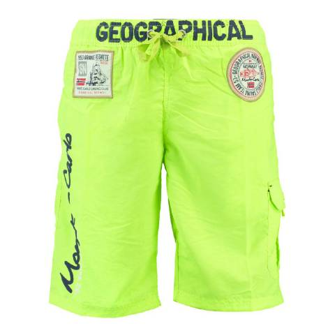 Geographical Norway Boy's Lime Green Quorban Swim Shorts