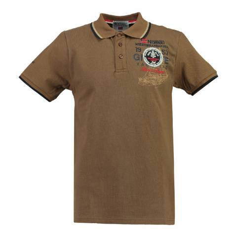 Geographical Norway Boy's Light Brown Kavigation Polo Shirt
