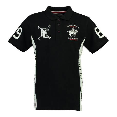 Geographical Norway Boy's Black/White Kevian Polo Shirt