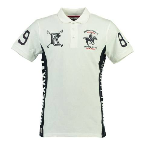 Geographical Norway Boy's White/Navy Kevian Polo Shirt