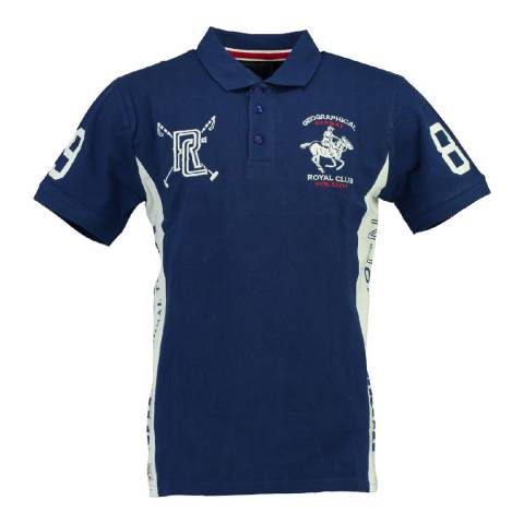 Geographical Norway Boy's Royal Blue/White Kevian Polo Shirt