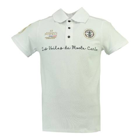 Geographical Norway Boy's White Kolostar Polo Shirt