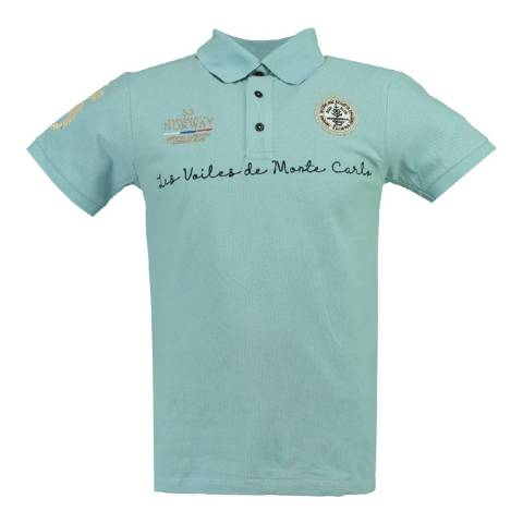 Geographical Norway Boy's Sky Blue Kolostar Polo Shirt