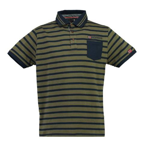 Geographical Norway Boy's Khaki/Navy Kungfu Polo Shirt