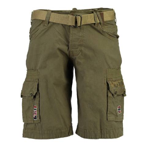 Geographical Norway Boy's Khaki Panoplie Shorts