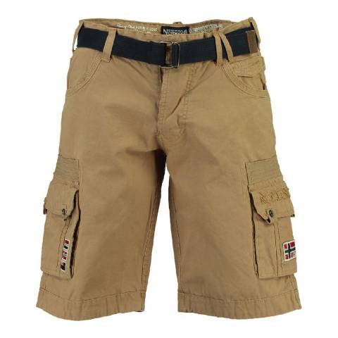 Geographical Norway Boy's Beige Panoplie Shorts