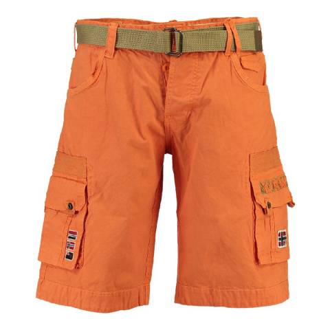 Geographical Norway Boy's Orange Panoplie Shorts