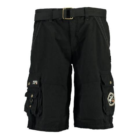 Geographical Norway Boy's Black Pantheon Shorts