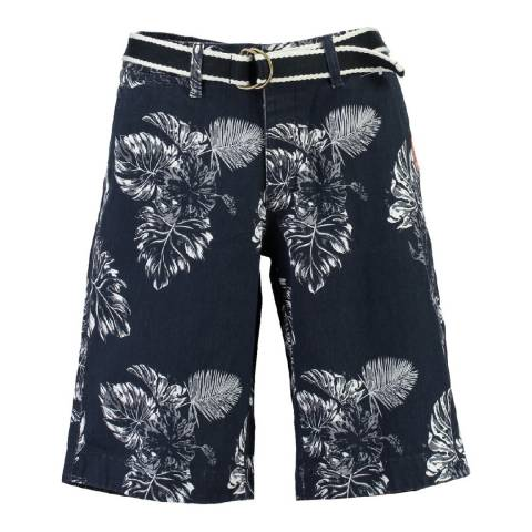 Geographical Norway Boy's Navy/White Parapluie Shorts