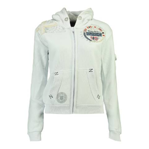Geographical Norway Boy's White Fudicael Hoodie
